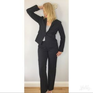 Calvin Klein Navy pinstriped pant suit